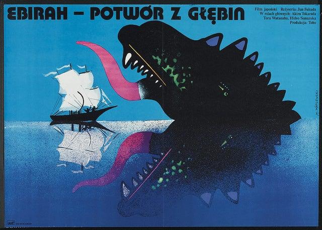 Polish Godzilla movie posters turn kaiju into high art