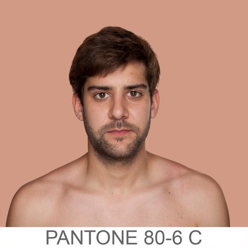 Human skin tones classified as Pantone colors