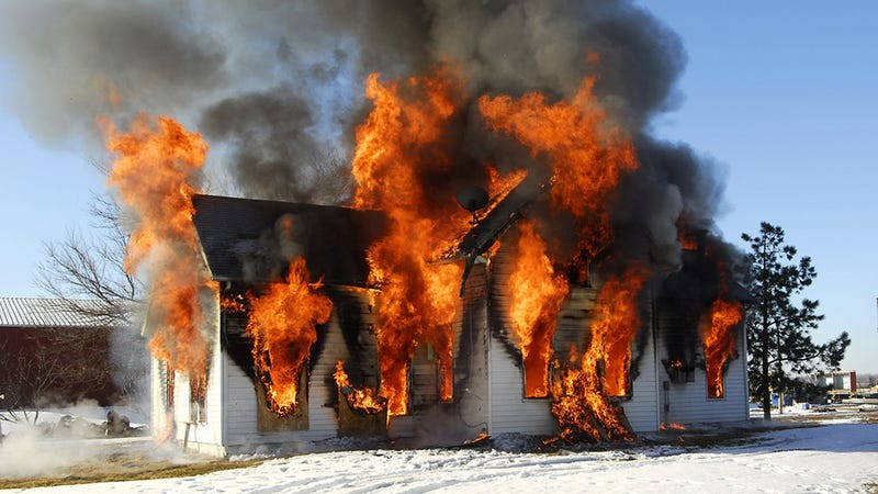 Completely Reasonable Man Tries to Kill Spider, Burns Down His House