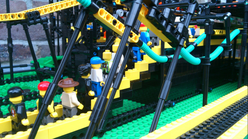 Impressive Build of an Inverted Lego Roller Coaster