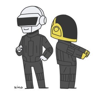 """Daft Punk & Pharrell, Stevie Wonder """"Get Lucky"""" 2014 Grammys"""