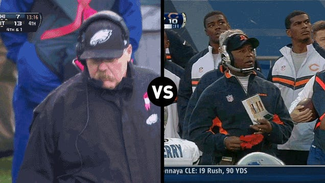 Who Has The Funnier Challenge-Flag-Throwing Motion, Andy Reid Or Lovie Smith?