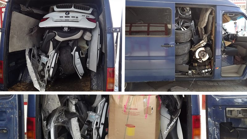 Here's Proof You Can Fit An Entire BMW X6 Into A Van