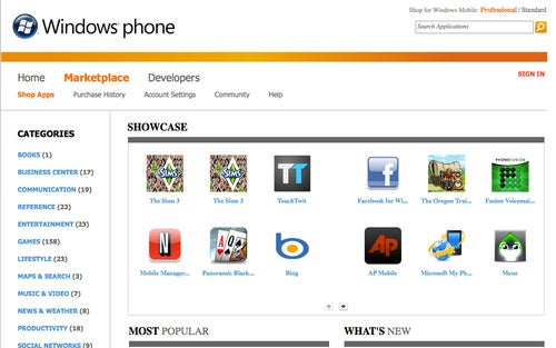 Windows Mobile Marketplace Adds Non-Mobile App Store