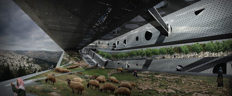 Mindblowing Buildings In the Sky May Solve Israeli-Palestinian Conflict