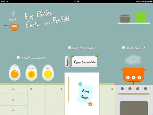Egg Boiler iPad App Times Your Eggs To Perfection