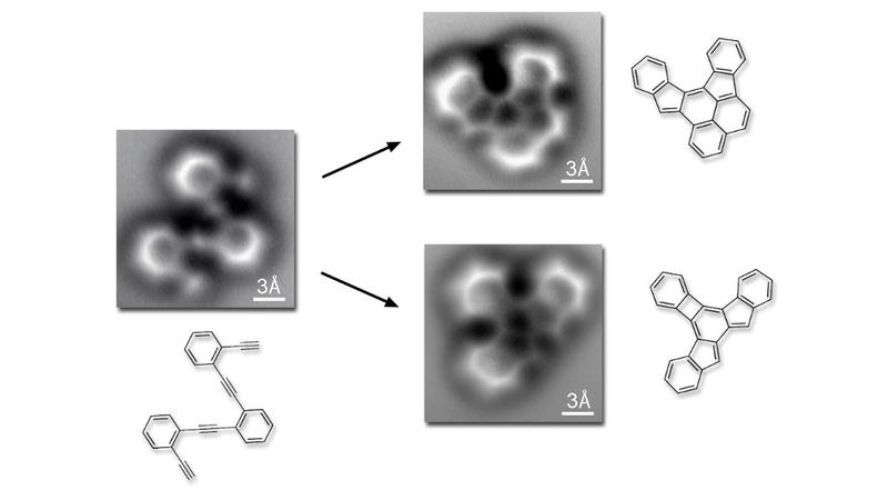 The First Images of Molecules Breaking and Reforming Chemical Bonds