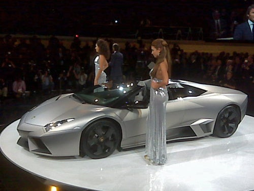 Lamborghini Reventón Roadster Debuts Amid A Bevy Of Booth Professionals