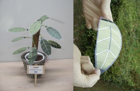 Flower Power to Solar Power: Artificial Plant has Solar Cell Leaves