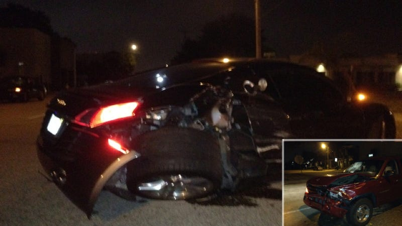 SUV-driving teenage girl crashes into Audi R8