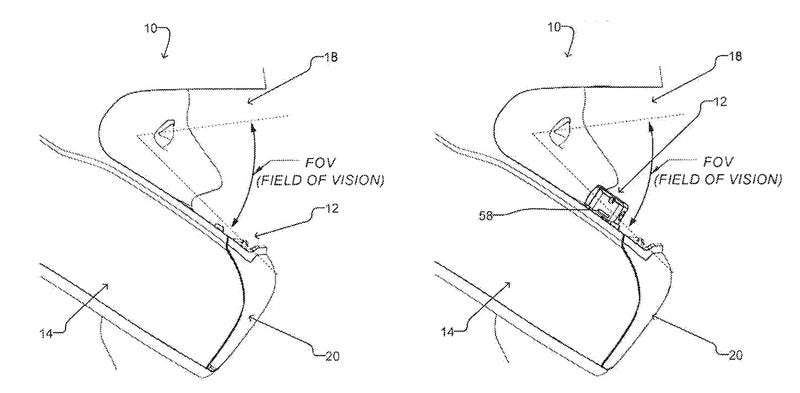 Patent For A Retractable Helmet HUD