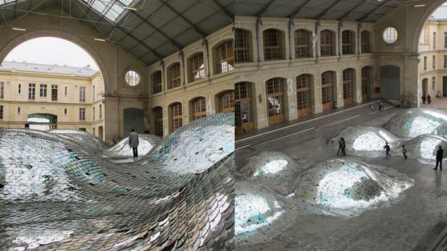65,000 CDs Turn an Ex-Funeral Home Into an Ocean of Songs