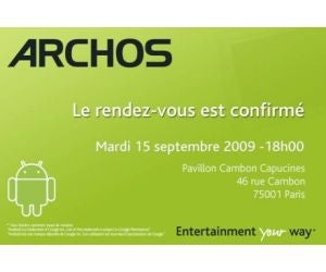 Archos Android Tablet With 720p Playback and Mobile Internet to Launch September 15th
