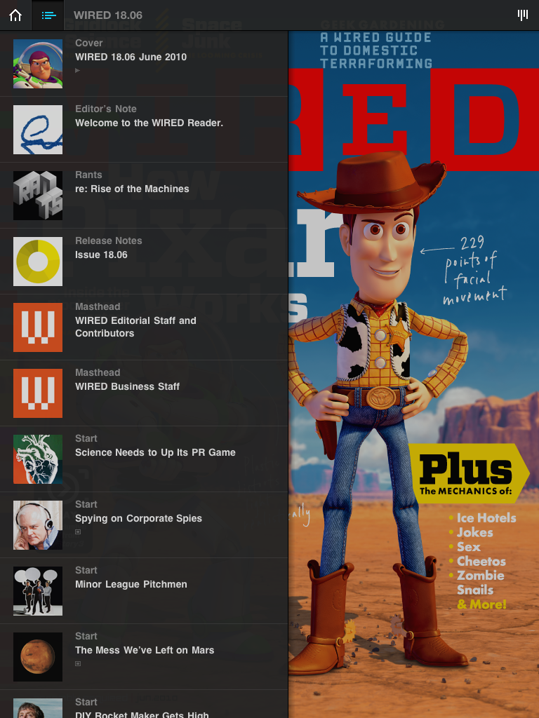 WIRED Magazine's Gorgeous App Now Available On The iPad