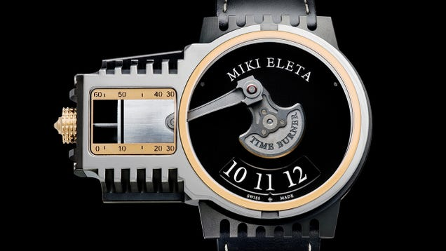 A Pumping Piston Tells Time on This Engine-Inspired Watch