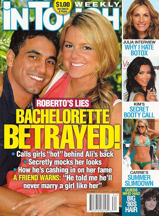 This Week In Tabloids: The Bachelorette's Fiancé Has A Roving Eye