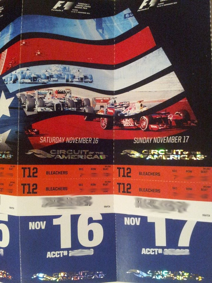 What The Hell Is Going On With Tickets For The US Grand Prix?