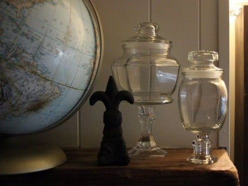 Turn Candle Sticks and Jars into Faux Apothecary Jars