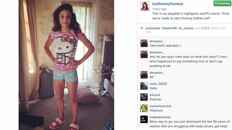 Bethenny Frankel Wears Her 4-Year-Old's Clothes, Folks Freak Out