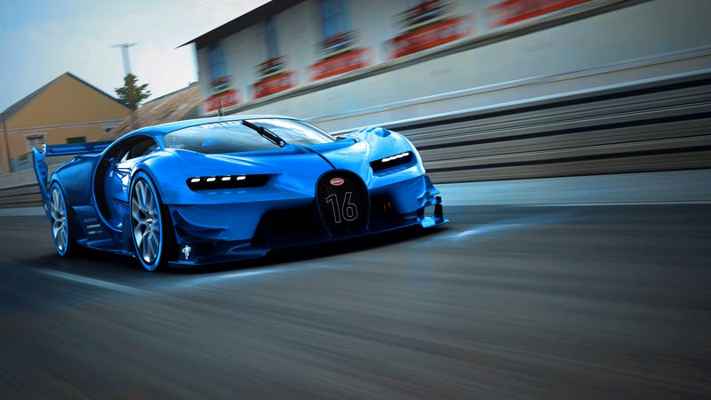 'Bugatti Vision Gran Turismo Concept: The Future Of Bugatti Looks Terrifyingly Awesome' from the web at 'http://i.kinja-img.com/gawker-media/image/upload/s--EMej9GT_--/c_scale,fl_progressive,q_80,w_800/1430362453224888104.jpg'