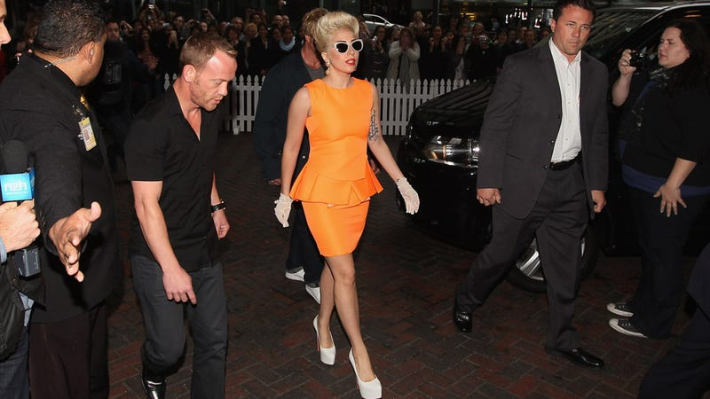 Lady Gaga Does Neon in New Zealand