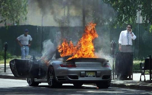Honey, The Porsche Is On Fire