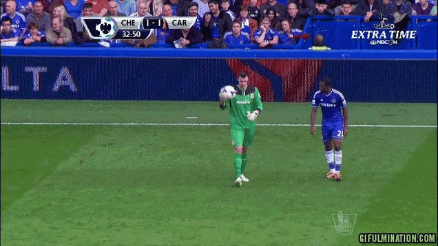 Chelsea Score When Samuel Eto'o Steals The Ball Out Of Keeper's Hands