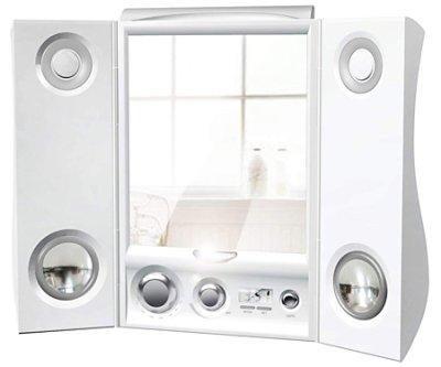 Fog-free Mirror Wirelessly Plays MP3s