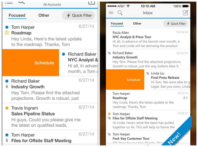 Outlook for iOS and Android Looks Like Acompli and That's Great