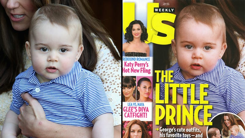 Wee Prince George 'Enhanced' With Photoshop for Magazine Cover