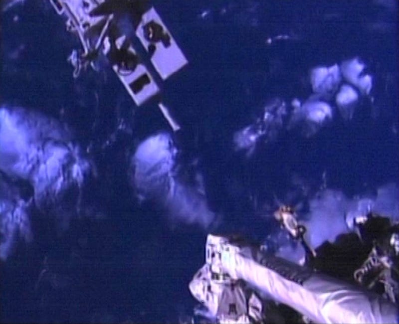 Dextre Installs a New Camera on the Canadarm, Poses for a Selfie
