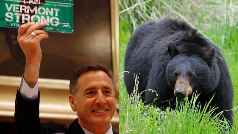 Barefoot Vermont Governor Chased By Bears After Daring Birdfeeder Rescue (UPDATE: He Was Also Naked)
