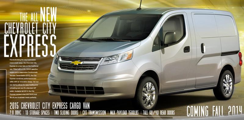 New Chevrolet van...