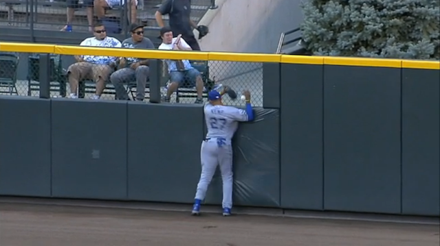 In A Possible Metaphor For The Dodgers' Season, Matt Kemp Smashed Into The Wall At Full Speed