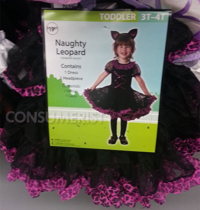 Wal-Mart Selling 'Naughty' Costume for Toddler Girls