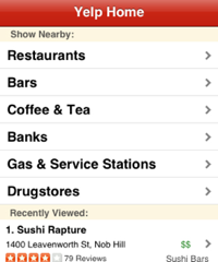 Yelp Brings Location-Aware Reviews to Your iPhone