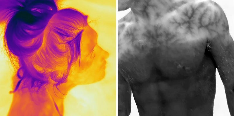 Ghostly Thermal Imaging Portraits are Eerie and Fascinating