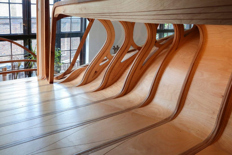 Bendy Wooden Room Snaps Together Like Tetris, Takes Over House