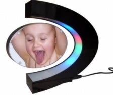 Magnetic Floating Picture Frame Won't Make Your Kid Less Ugly
