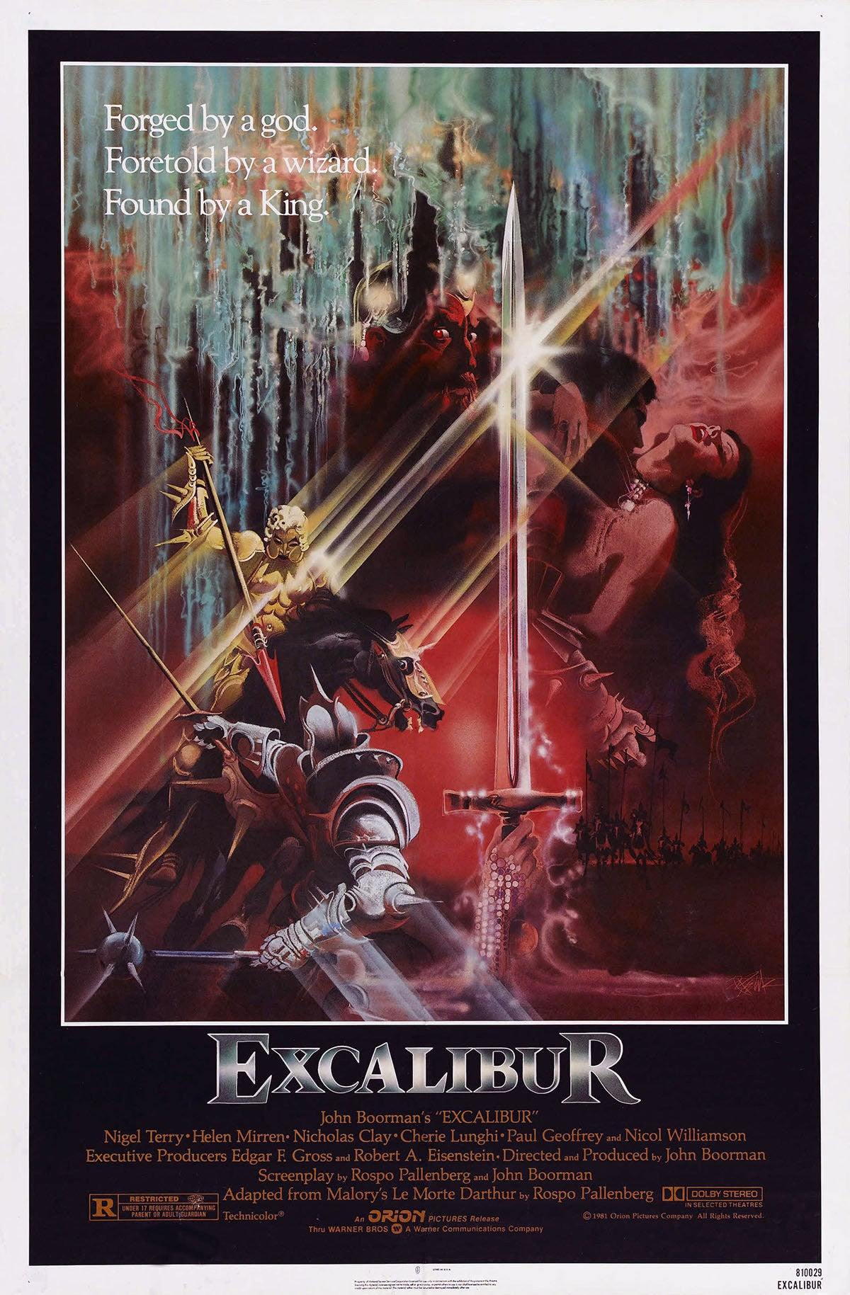 an analysis of excalibur a movie by john boorman John boorman, producer: excalibur john boorman attended catholic school (salesian order) although his family was not, in fact, roman catholic his first job was for a dry-cleaner later, he worked as a critic for a women's journal and for a radio station until he entered the television business .