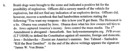 Von Brunn: 'Obama Was Created by Jews'