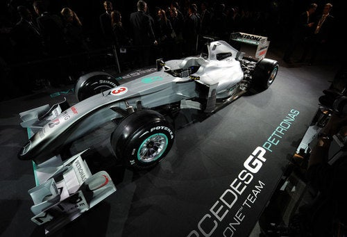 Schumi's New Ride: 2010 Mercedes F1 Car Livery Unveiled