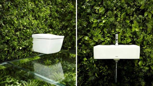 A Crazy Garden Bathroom Classes Up Your Drunken Relief