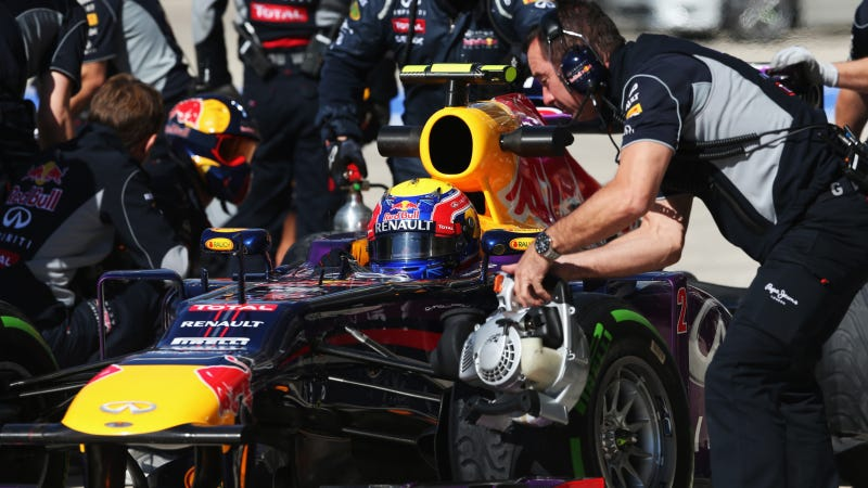 Red Bull F1 Team Does World Record 1.923-Second Pit Stop In Austin