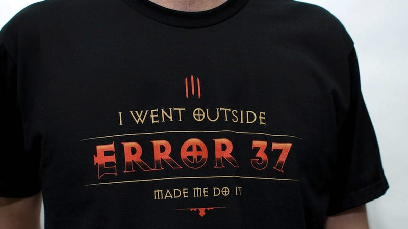 It Happened: Diablo III's Error 37 Is Now On A T-Shirt.