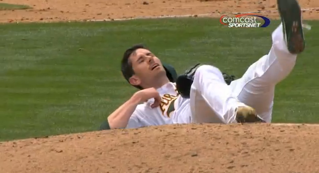 Brandon McCarthy Took A Line Drive Right Above The Ear