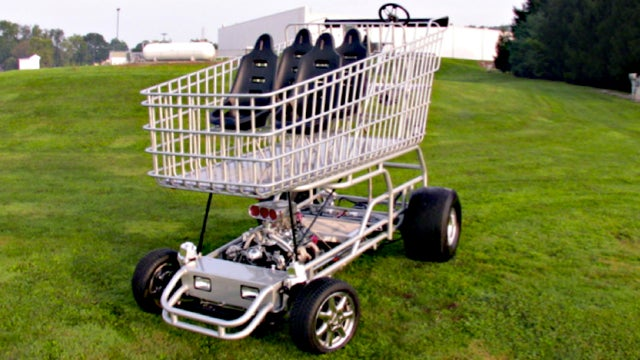 This 9-Foot-Tall V8-Powered Shopping Cart Is Pointlessly Awesome