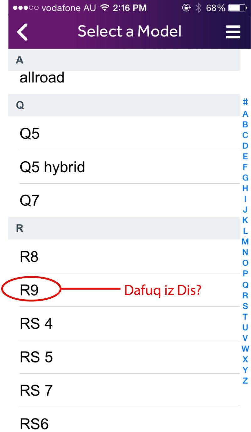 So Apparently Audi Makes an R9