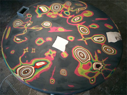 Wreck This Table to Bring Out the Colors