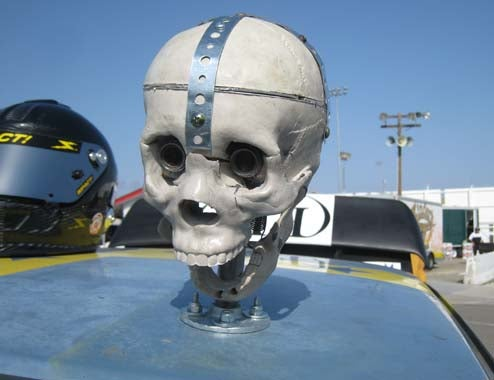 Yes, Those Were Vacuum-Operated Skulls On The Black Metal V8olvo's Roof